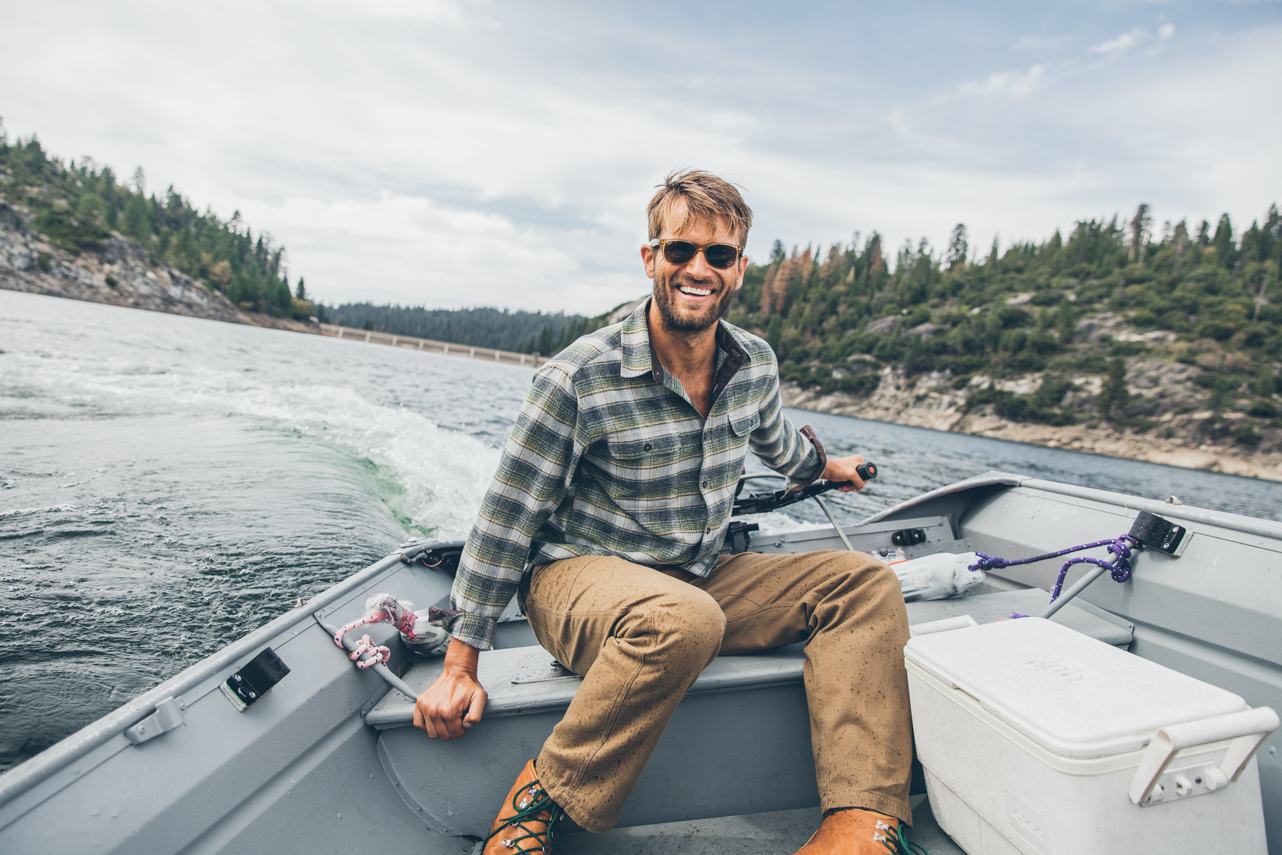 Outdoorsy Man Boating