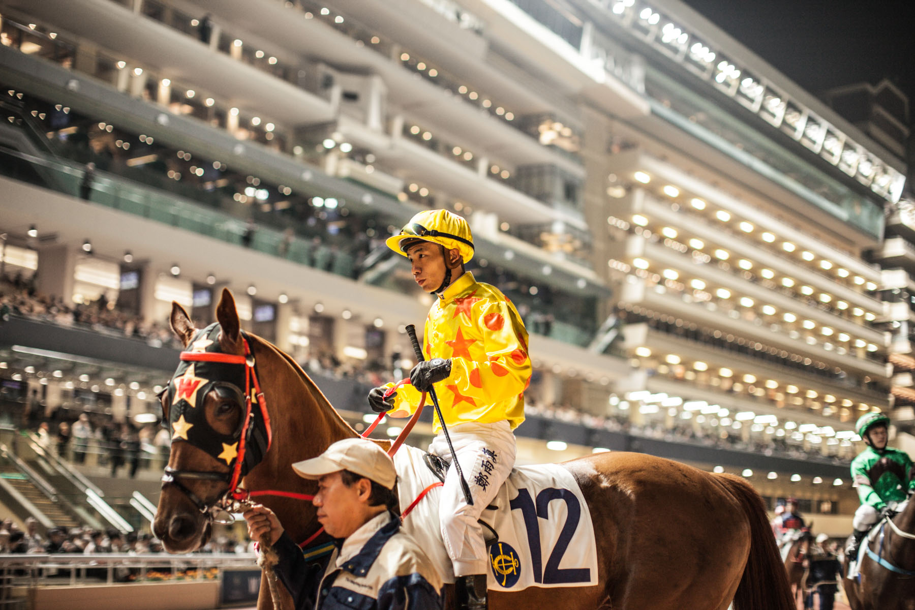 Jockey at Happy Valley in Hong Kong