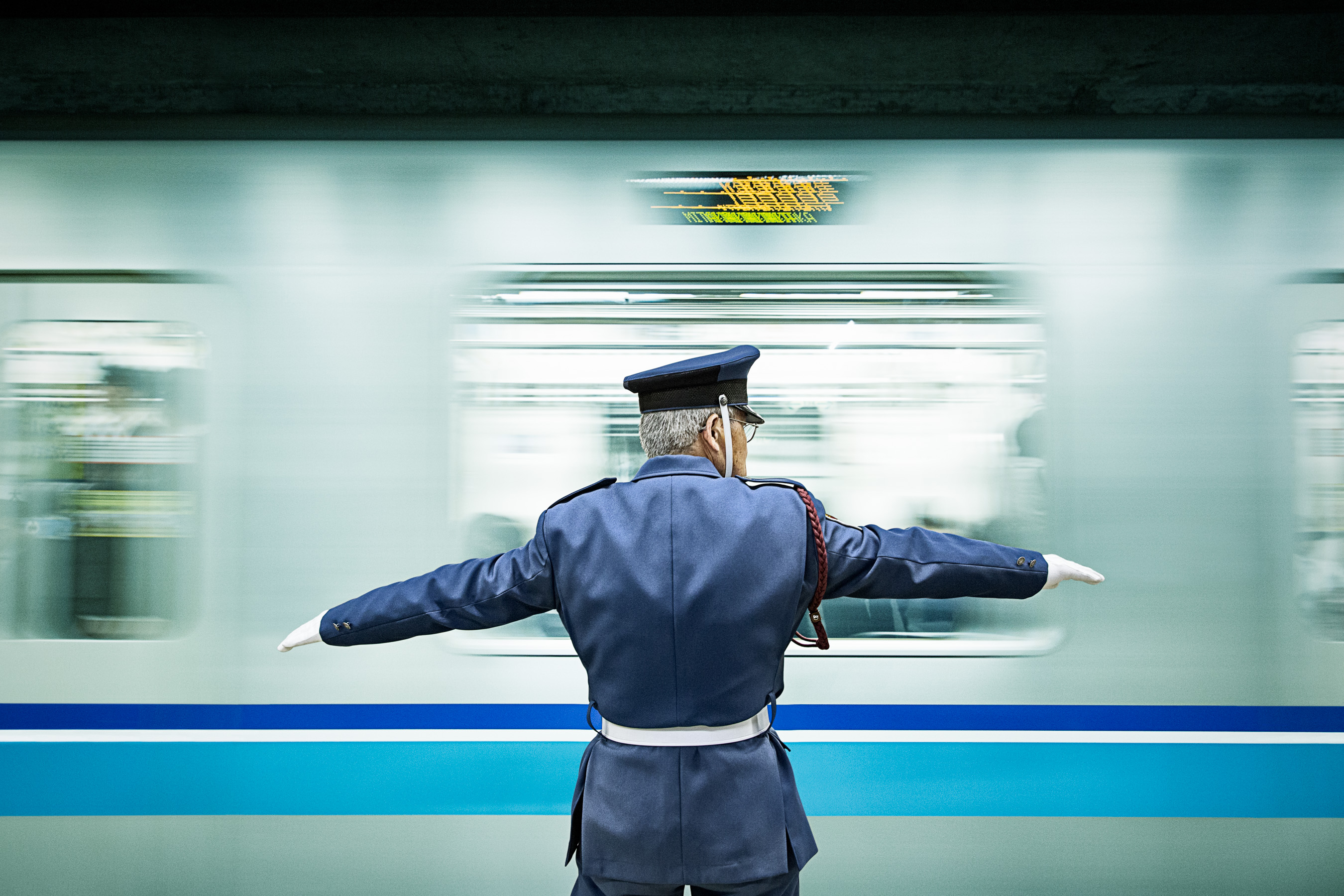 Subway Conductor in Tokyo Station
