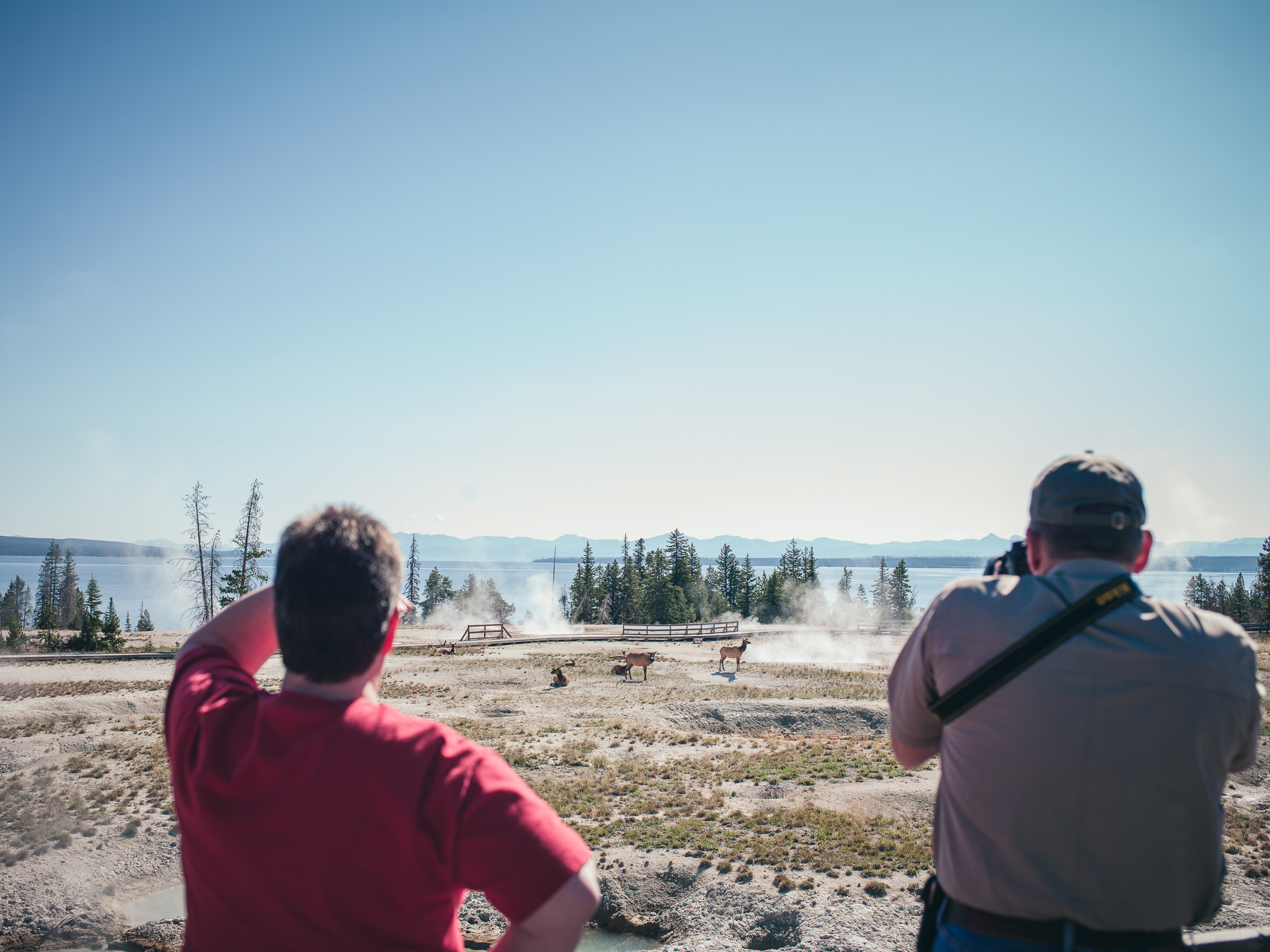 Road Trip - Tourists at Yellowstone
