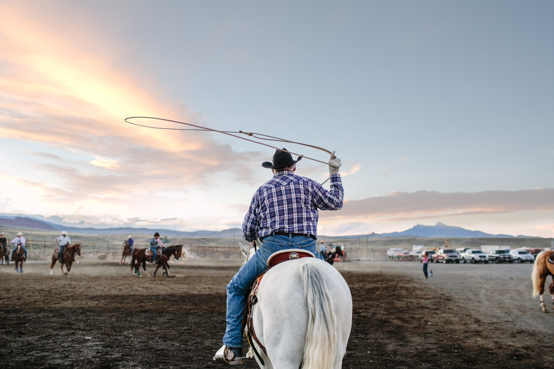 Man With Lasso at Cody Wyoming Rodeo