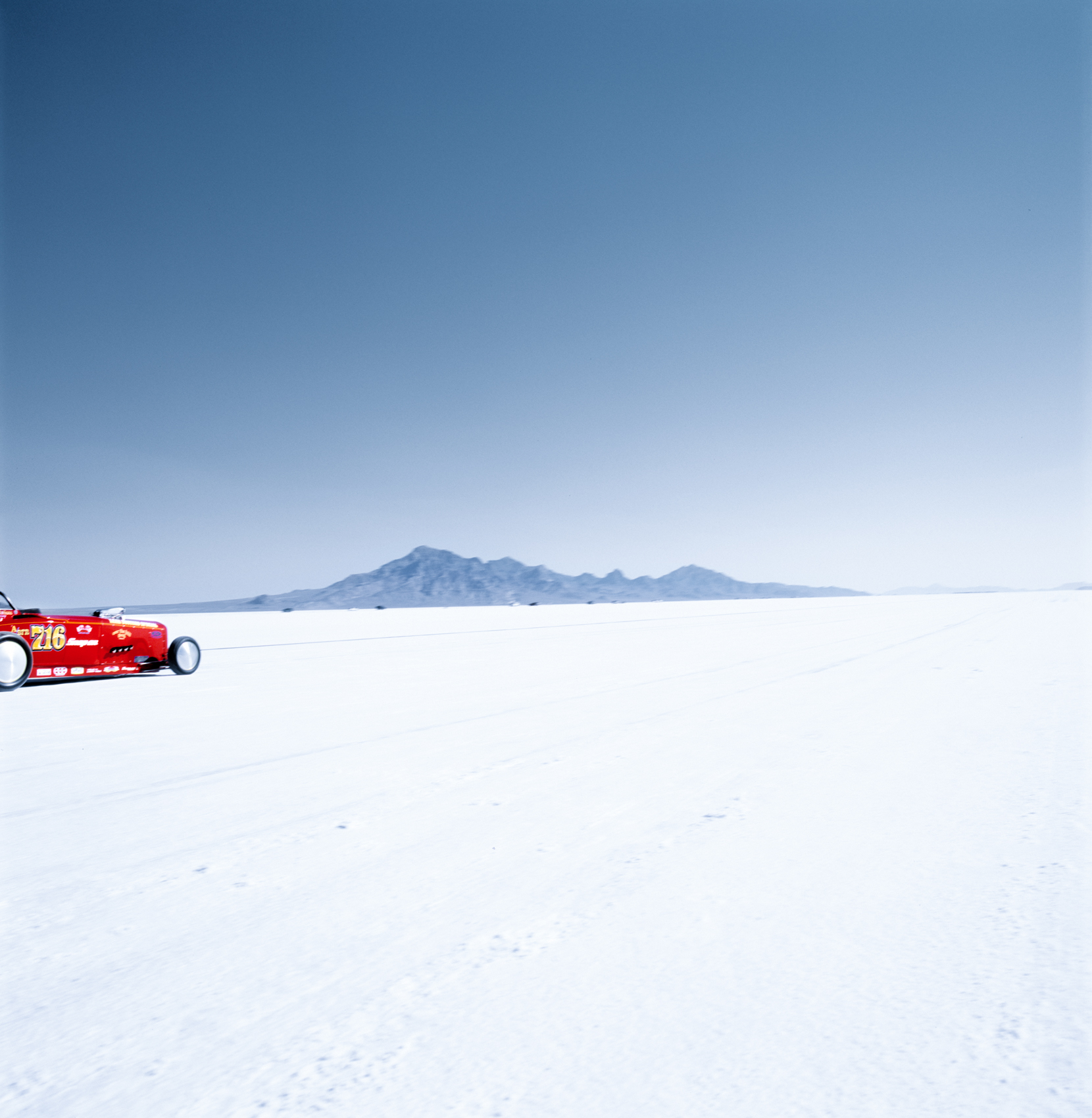 Road Trip - Cars Racing on the Salt Flats