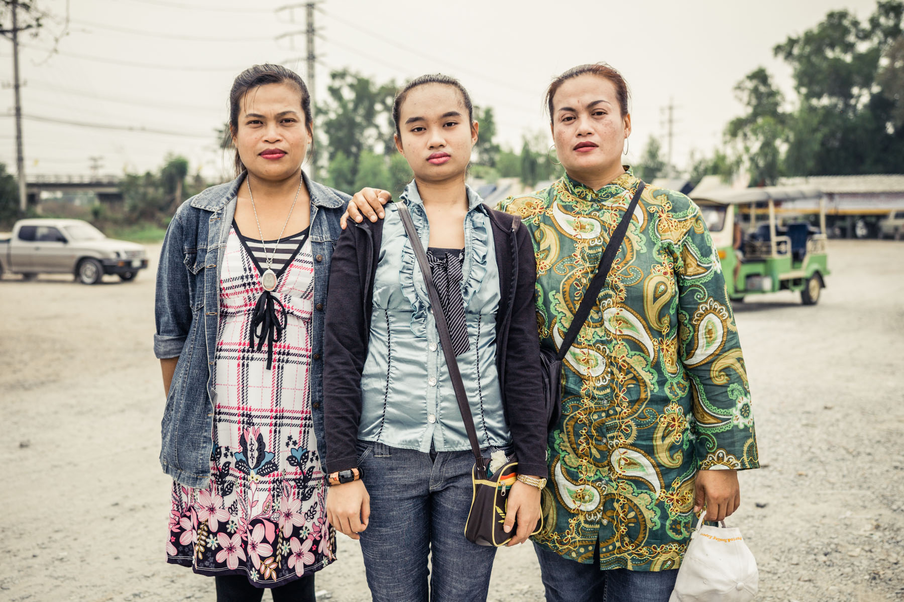 Mother, Aunt and Daughter in Thailand