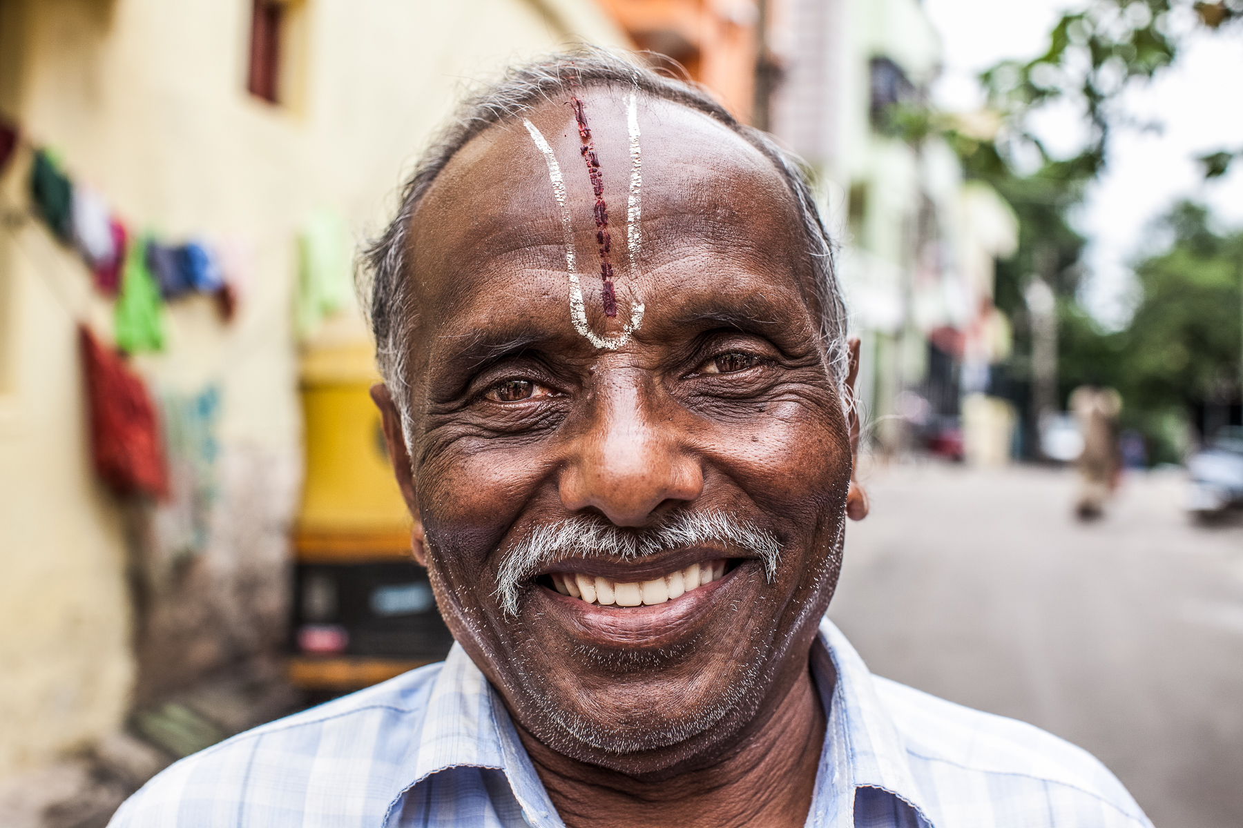 Portrait of Indian Man in  a City