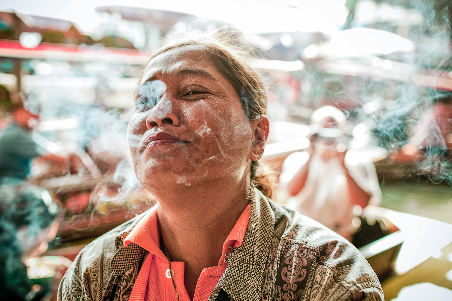Thailand - Woman Smoking